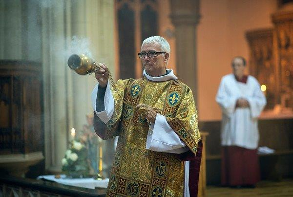 Deacon Paul incenses the congregation