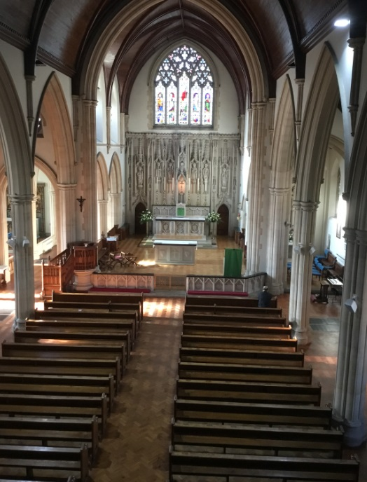 View from choir 1